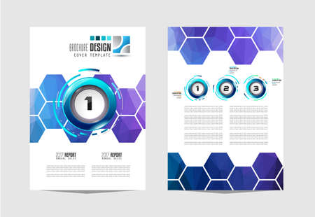 business card template: Brochure template, Flyer Design or Depliant Cover for business presentation and magazine covers, annual reports and marketing generic purposes.
