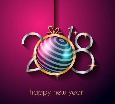2018 guten Rutsch ins Neue Jahr-Hintergrund für Ihre Saison Flyer und Grußkarte oder Weihnachten themed Einladungen