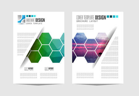 catalog: Brochure template, Flyer Design or Depliant Cover for business presentation and magazine covers, annual reports and marketing generic purposes.