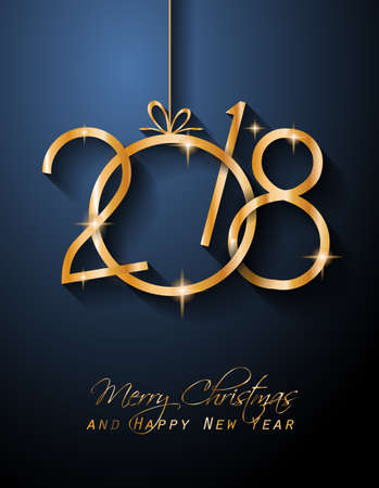 2018 Happy New Year Background for your Seasonal Flyers and Greetings Card or Christmas themed invitations.