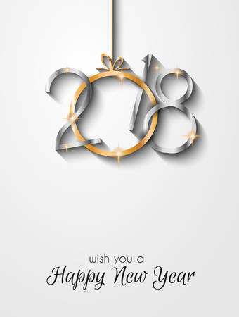 2018 Happy New Year Background for your Seasonal Flyers and Greetings Cards or Christmas themed invitations.