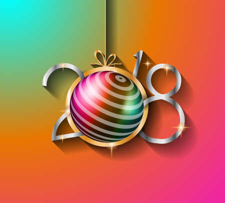 2018 Happy New Year Background for your Seasonal Flyers and Greetings Cards or Christmas themed invitations Illustration