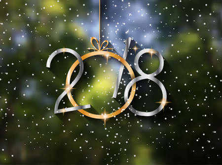 2018 New year background Иллюстрация