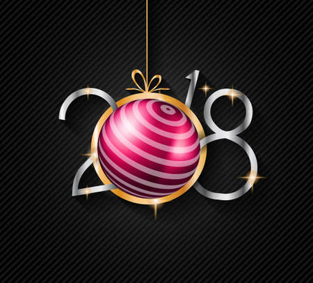 template: 2018 Happy New Year Background for your Seasonal Flyers and Greetings Card or Christmas themed invitations