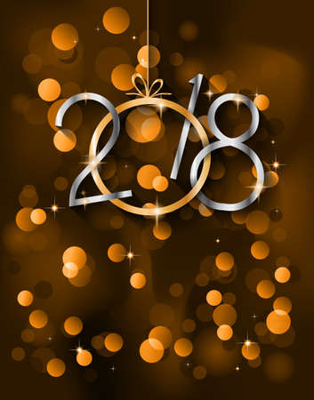 celebration party: 2018 Happy New Year Background for your Seasonal Flyers and Greetings Card or Christmas themed invitations