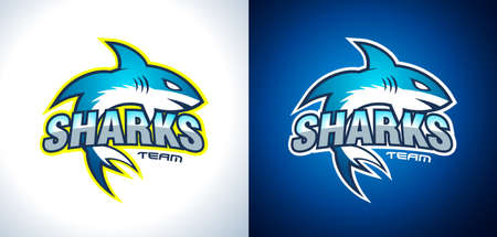 big ball: Classic College Team Style Shark Logo design for brand identity, company profile or corporate logos with clean elegant and modern style.