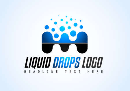 Creative Liquid Drops Logo design for brand identity, company profile or corporate logos with clean elegant and modern style.