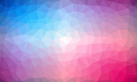 Low Poly abstract background with colorful triangular polygons with a brilliant colors range. 矢量图像