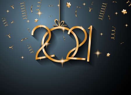 2021 Happy New Year Background for your Seasonal Flyers and Greetings Card or Christmas themed invitations