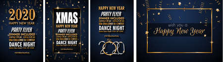2020 Happy New Year Background for your Seasonal Flyers and Greetings Card or Christmas themed invitations Illustration