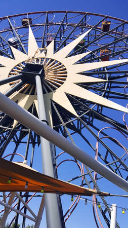 Anaheim, California, United States; 05222017: Mickes Fun Wheel at California Adventure Disney Park