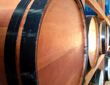 Brown barrel for the storage of alcoholic beverages and their fermentation or aging.