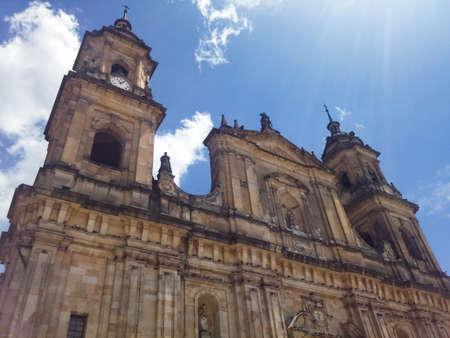 Primatial Cathedral of Bogota. Roman Catholic cathedral located in downtown Bolivar Square