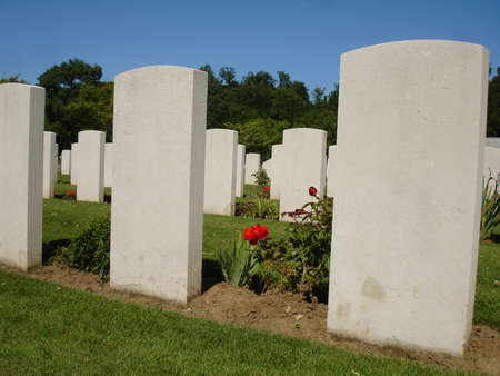 Britisch military cimetery in Normandy