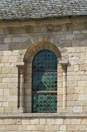 norman castle: castle window