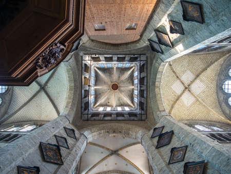 belgien: Innenraum der Sint-Niklaaskerk oder St.-Nikolaus-Kirche, Gent, Flandern, Belgien, Europa