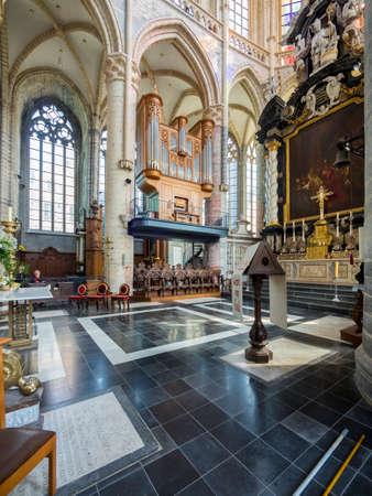 belgien: Orgel im Innenraum der Sint-Niklaaskerk oder St.-Nikolaus-Kirche, Gent, Flandern, Belgien, Europa