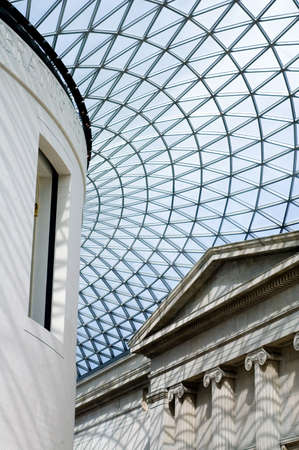 looking up at rook of the great courtyard, British Museum, London