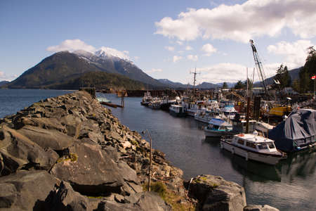 vancouver island: harbour with fishing boats on Vancouver Island, BC, Canada Editorial
