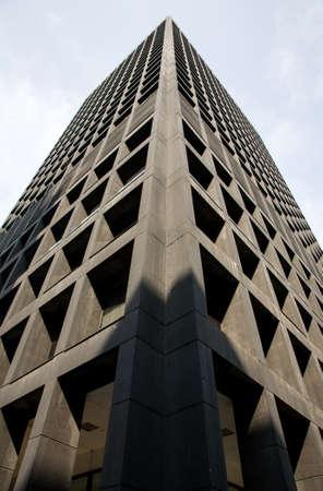 modernist: modernist skyscrapr rising skyward, Vancouver, BC