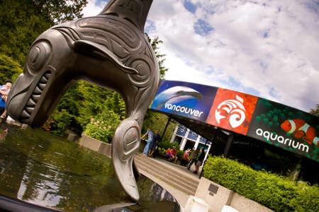 vancouver: entrance to Vancouver Aquarium, Stanley Park, Vancouver, BC
