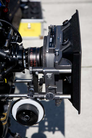 Arri cinema camera on location ready to film