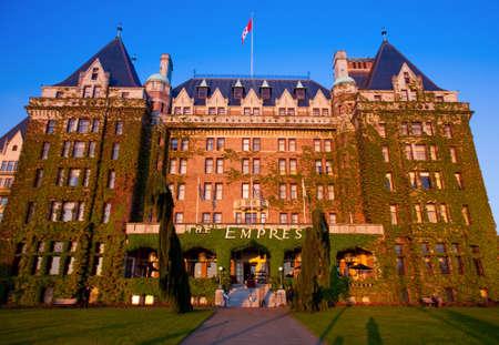 victoria bc: Empress Hotel, Victoria, BC at sunset, Vancouver Island, British Columbia