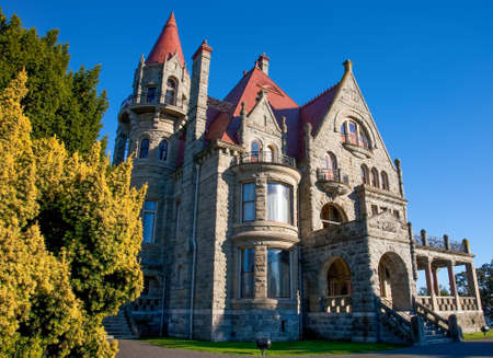 stately: Craigdarroch Castle, Victoria, Vancouver Island, British Columbia Editorial