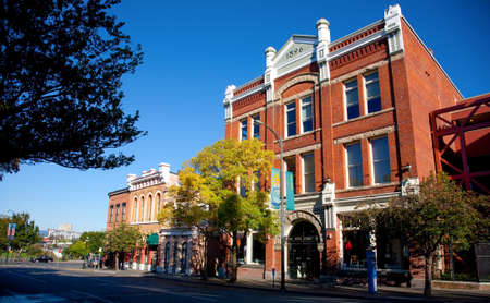 heritage buildings on Johnson Street, Victoria, Vancouver Island, British Columbia