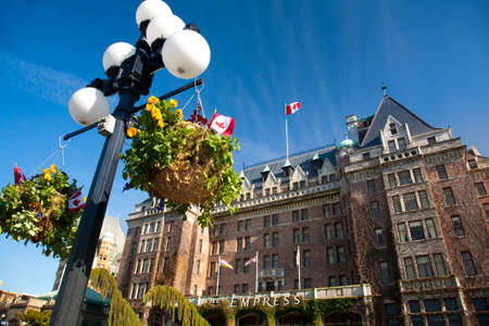 lampost: view of Empress Hotel, Inner Harbour, Victoria, Vancouver Island, British Columbia