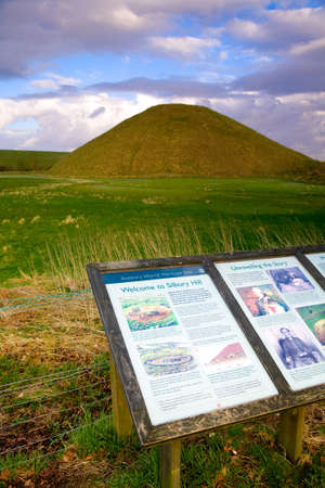 neolithic: Neolithic site of Silbury Hill, near Avebury in Wiltshire, UK Editorial