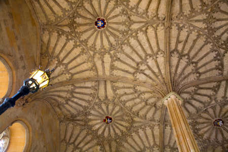 christ church: ceiling of courtyard leading to Dining Hall, Christ Church College, Oxford, UK