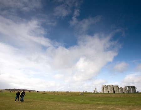 neolithic: Monumento Stonehenge Neol�tico, Wiltshire, Reino Unido Editorial