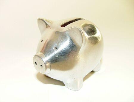 Silver Piggy Bank