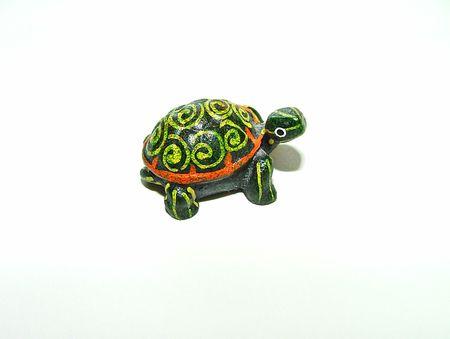 Dipinti a mano tartaruga Figurina  Archivio Fotografico - 330047