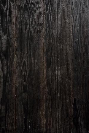 黒の質感の木製の背景 写真素材