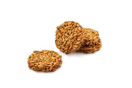 Sunflower seeds gozinaki isolated on white