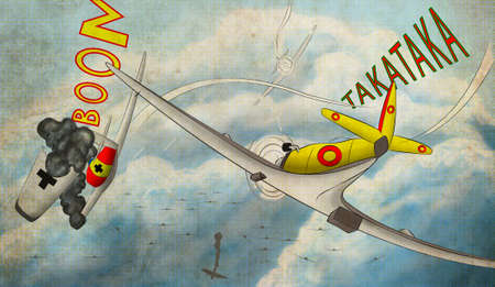 warbirds: The illustration of the planes battle