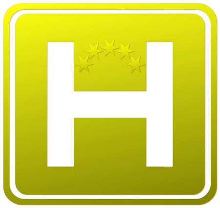 Hotel five stars sign