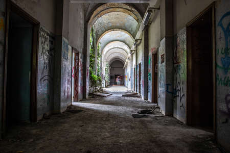 Abandoned psychiatric hospital - asylum - in Mombello, (Limbiate), Monza and Brianza, Lombardia, Italy