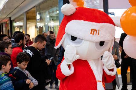 Orio al Serio - Bergamo / Italy - 12-08-2018: Xiaomi store with xiaomi LOGO in luxury shopping mall