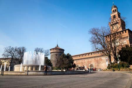 Sforza Castle in Milan, Italy Editorial
