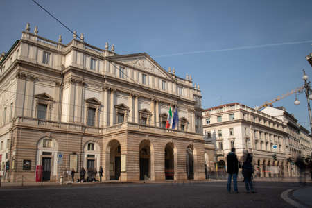 La Scala, a theatrical museum and library attached to the La Scala Theater in Milan, Italy. Editorial