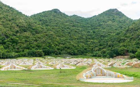Chinese cemetary in the mountains of Kanchanaburi Thailand Stok Fotoğraf