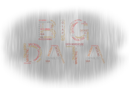 Big Data in gray rapresentation of the keywords about big data photo