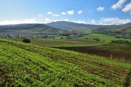 hinterland: LANDSCAPES OF SICILY Stock Photo
