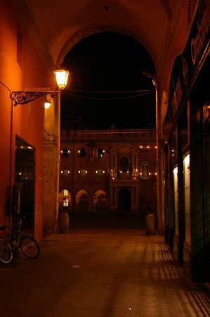 vecchie: Piazza Maggiore view from Via Pescherie Vecchie, Bologna Editorial