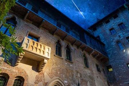 This is the original balcony of Shakespeare's characters, Romeo and Juliet in the center of the city of Verona, Italy