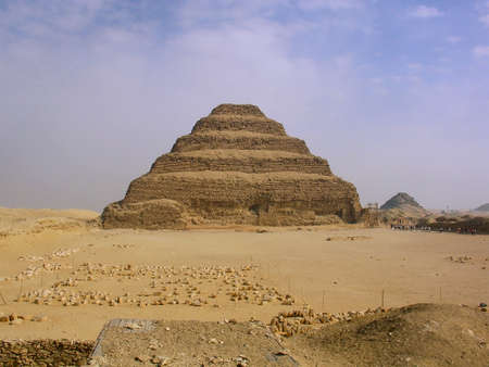 djoser: Step pyramid of Djoser at Saqqara, in Egypt, one of the oldest pyramids in the world