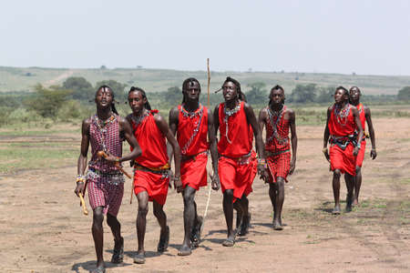 danced: The Masai men welcome dance - Safari Kenya